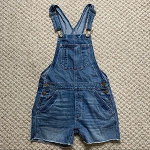 American Eagle Outfitters Blue Denim Short Overall